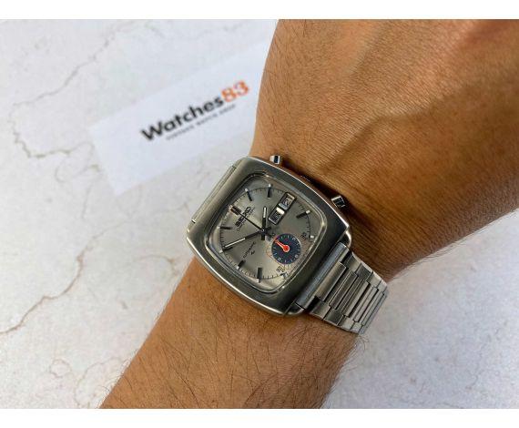 NOS SEIKO MONACO Ref 7016-5001 Reloj cronógrafo antiguo automático Cal 7016. OPORTUNIDAD ÚNICA *** NUEVO DE ANTIGUO STOCK ***