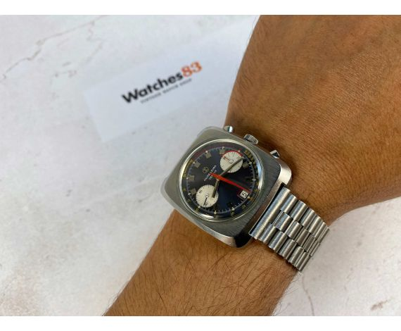 FAVRE LEUBA GENEVE Vintage winding chronograph watch 10 ATU Cal Valjoux 232 Ref. 31013 *** SPECTACULAR ***