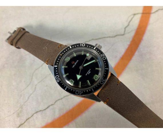 HELBROS INVENCIBLE SKIN DIVER Reloj vintage de cuerda Cal. P75 LORSA 20 ATMOSPHERES. LOLLIPOP *** BROAD ARROW ***