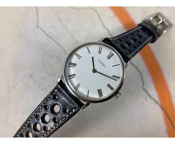 ZODIAC Reloj suizo antiguo de cuerda Ref 382.660 Cal. 38 (ETA 2512) *** ELEGANTE ***