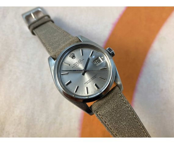 ROLEX OYSTER PERPETUAL DATE Ref. 1500 Vintage swiss automatic watch Cal. 1570 DIAL SIGMA SILVER *** BEAUTIFUL ***