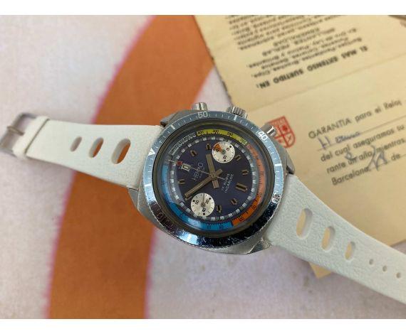HERMO Vintage swiss hand winding chronograph watch 300 FEET Cal. Landeron 187 Ref. 4000/1 *** DOCUMENTATION ***