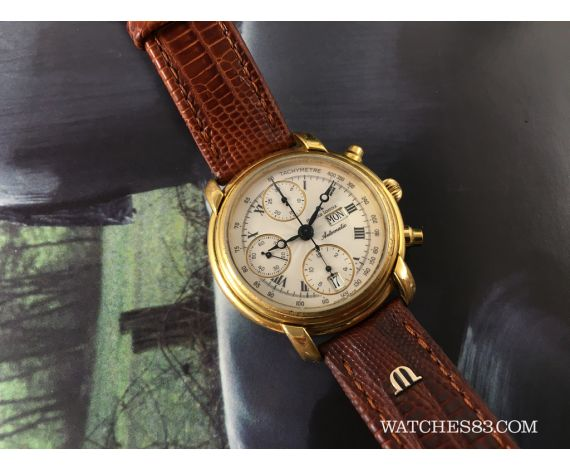 Good Watch Brands For Men >> Vintage watch chronograph Maurice Lacroix automatic Masterpiece + BOX Maurice Lacroix Vintage ...