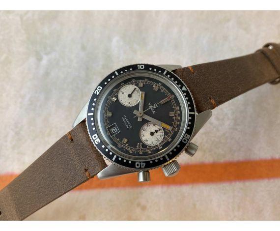 YEMA DAYTONA Reloj cronógrafo vintage de cuerda REVERSE PANDA 10 ATMOSPHERES Cal. Valjoux 7734 *** MARAVILLOSO ***