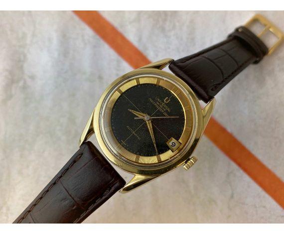 UNIVERSAL GENEVE POLEROUTER DATE Reloj suizo antiguo automático Cal 218-2 MICROTOR. DIAL TROPICALIZADO *** PRECIOSO ***