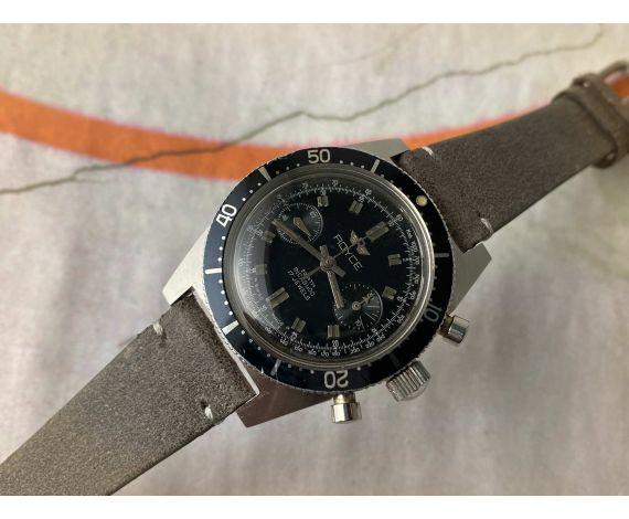 ROYCE DIVER Vintage swiss hand winding chronograph watch 20 ATM Cal. Landeron 248 *** SCREW-DOWN CROWN ***