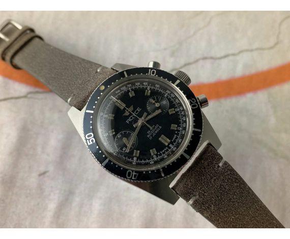 ROYCE DIVER Reloj vintage suizo cronógrafo de cuerda 20 ATM Cal. Landeron 248 *** CORONA ROSCADA ***