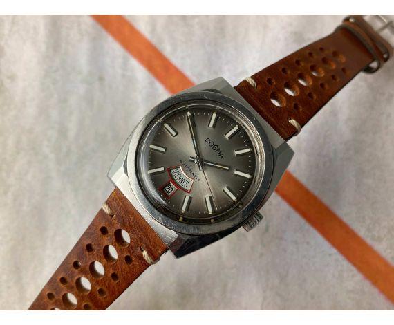 DOGMA DOBLE CALENDARIO Reloj suizo antiguo automático Cal. FHF 908 *** RAREZA ***