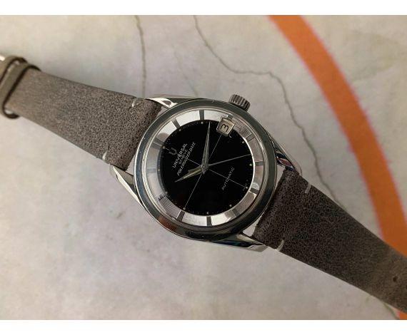 UNIVERSAL GENEVE POLEROUTER DATE Ref. 204612-2 Reloj suizo antiguo automático Cal. 218-2. GLOSSY DIAL *** COLECCIONISTAS ***
