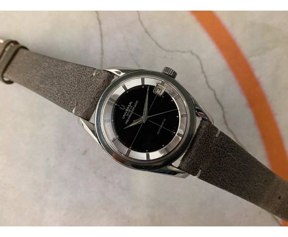 UNIVERSAL GENEVE POLEROUTER DATE Ref. 204612-2 Vintage swiss automatic watch Cal. 218-2. GLOSSY DIAL *** COLLECTORS ***
