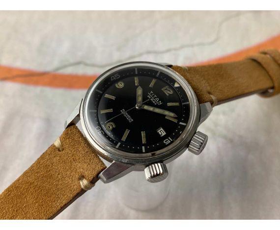 TITAN SUPER COMPRESSOR Reloj PLONGEUR suizo antiguo automático dial negro 25 jewels Cal. AS 1700-01 Bisel interno *** DIVER ***