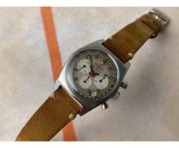 ZENITH EL PRIMERO A385 Reloj suizo cronógrafo vintage automático Cal. 3019 PHC BROWN DIAL *** COLECCIONISTAS ***