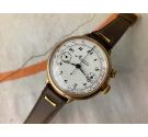 MINERVA BIG PILOT Vintage swiss hand winding chronograph watch Cal. 19CH Monopusher. GIANT *** COLLECTORS ***