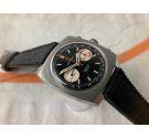 CERTINA ARGONAUT CHRONO Vintage swiss hand winding chronograph watch Cal. 29-053 (Valjoux 23) *** PANDA REVERSE DIAL ***