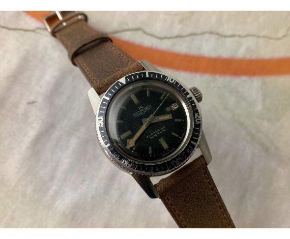 KROM-NEX SUBMARINE Reloj suizo antiguo automático DIVER 800 FEET 20 ATM Cal. ETA 2452 *** SNOWFLAKE HANDS ***