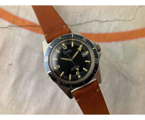 BESSA PRESTIGE 200M Reloj suizo vintage automático Cal. AS 1902/03 DIVER 20 ATM Bisel Bidireccional *** BROAD ARROW ***