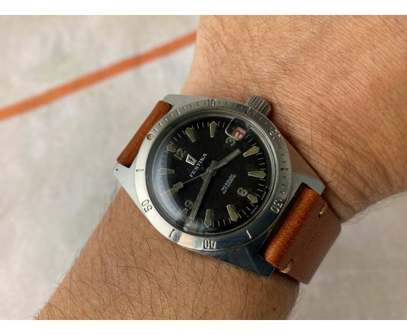 DIVER FESTINA 600 FEET 18 ATMOS Vintage automatic Cal. ETA 2789 Ref 1169-109 *** SCREW DOWN CROWN ***