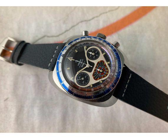 YEMA FLYGRAF Chronographe Reloj cronógrafo antiguo de cuerda Cal. Valjoux 7736 *** ESPECTACULAR ***
