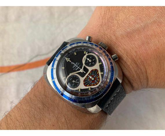 YEMA FLYGRAF Chronographe Vintage hand winding chronograph watch Cal. Valjoux 7736 *** SPECTACULAR ***
