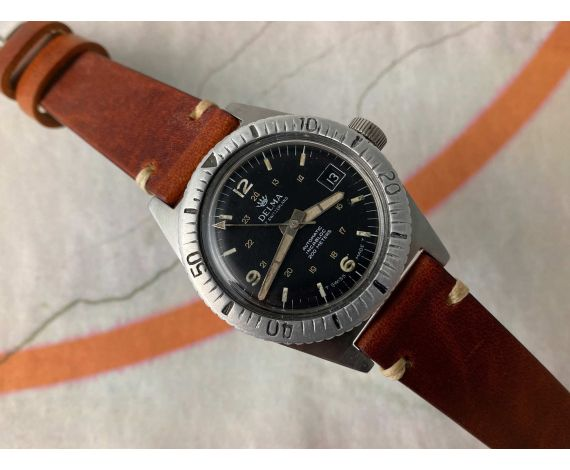 DELMA OF SWITZERLAND Vintage swiss automatic DIVER watch Cal. ETA 2452 *** 200M ***