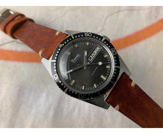 BESSA PRESTIGE 200M Reloj suizo vintage automático Cal. PUW 1564 DIVER 20 ATMOSPHERES Bisel Bidireccional *** LOLLIPOP ***