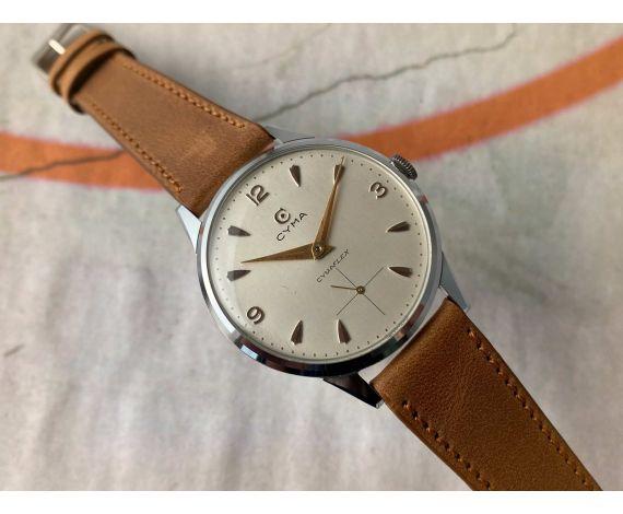 CYMA CYMAFLEX TAVANNES Reloj antiguo suizo de cuerda Cal 586K 37,5 mm *** OVERSIZE ***