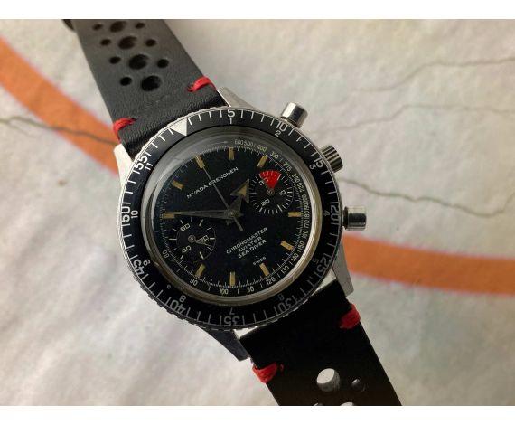 NIVADA GRENCHEN CHRONOMASTER AVIATOR SEA DIVER Reloj cronógrafo vintage de cuerda Cal. Valjoux 23 *** COLECCIONISTAS ***