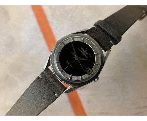 UNIVERSAL GENEVE POLEROUTER DATE Reloj antiguo automático Cal. 69 MICROTOR Ref. 869111/01 *** PÁTINA CHOCOLATE ***