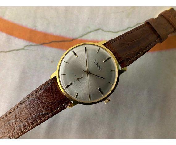 NOS DUWARD Reloj suizo antiguo de cuerda 15 rubis Plaqué OR Cal. FHF 81 *** NUEVO DE ANTIGUO STOCK ***