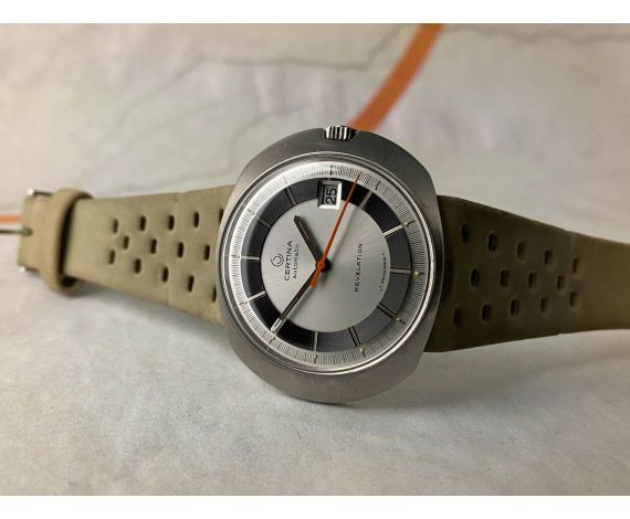CERTINA REVELATION NEW OLD STOCK Ref. 5301 Vintage swiss automatic watch Cal. 25-651M 185 M *** N.O.S. ***