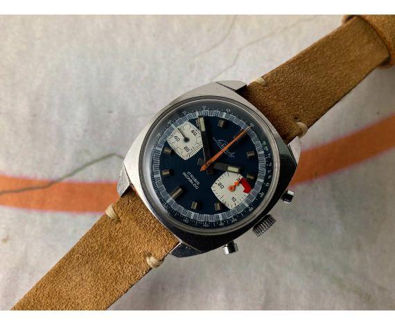 LORANDO RACING Reloj suizo Vintage cronógrafo de cuerda Cal. Valjoux 7733 *** DIAL AZUL ***