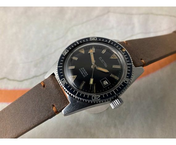 ELECTRA DIVER BROAD ARROW Vintage automatic watch 20 ATM Cal. ETA 2472 *** OVERSIZE ***