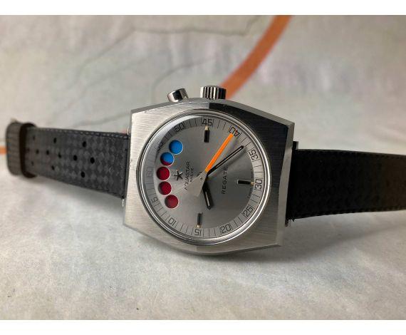 AQUASTAR SA GENÈVE REGATE Ref. 9854 Reloj cronógrafo suizo antiguo automático Lemania 1345 GRAN DIÁMETRO *** COLECCIONISTAS ***
