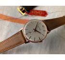 DUWARD NUEVO DE ANTIGUO STOCK Reloj suizo antiguo de cuerda Cal. Unitas 6235 Plaqué OR *** NOS ***