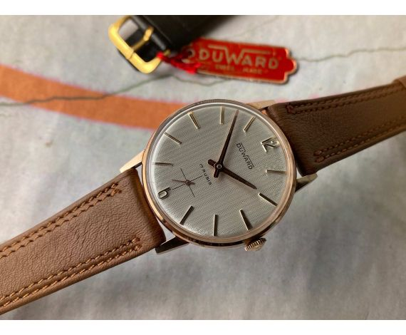 DUWARD NEW OLD STOCK Vintage swiss hand wind watch Cal. Unitas 6235 Plaqué OR *** N.O.S. ***