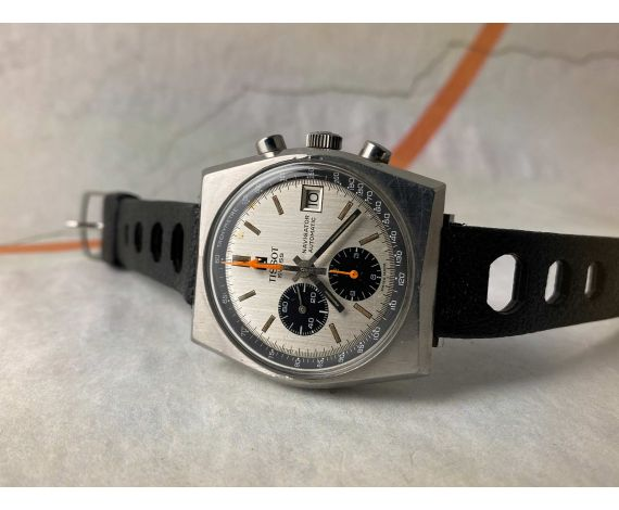 TISSOT LOBSTER NAVIGATOR Vintage swiss automatic chronograph watch Cal 2170 Ref 45.502 *** PANDA DIAL ***