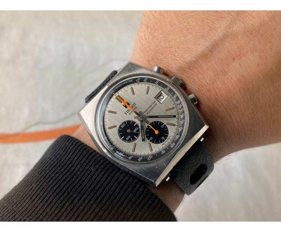 TISSOT LOBSTER NAVIGATOR Reloj vintage suizo cronógrafo automático Cal 2170 Ref 45.502 *** DIAL PANDA ***
