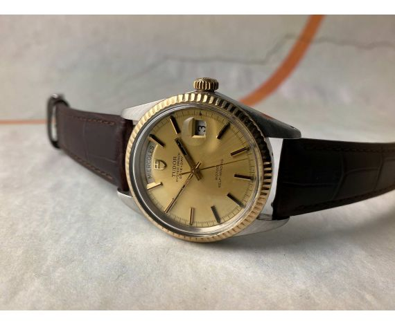 "TUDOR ""JUMBO"" OYSTER PRINCE DATE DAY Vintage swiss automatic watch 38 mm Ref. 7019/3 Cal. 1895 *** OVERSIZE ***"
