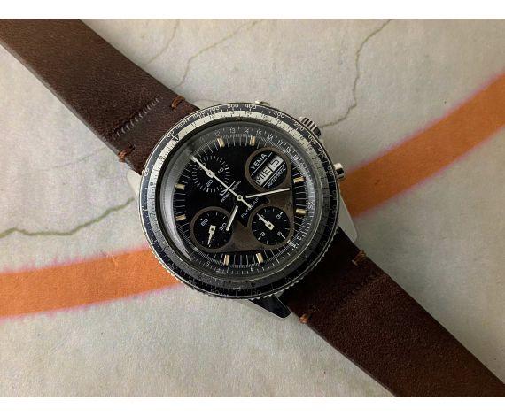 YEMA FLYGRAF Chronographe Reloj cronógrafo antiguo automático Cal Valjoux 7750 *** COLECCIONISTAS ***