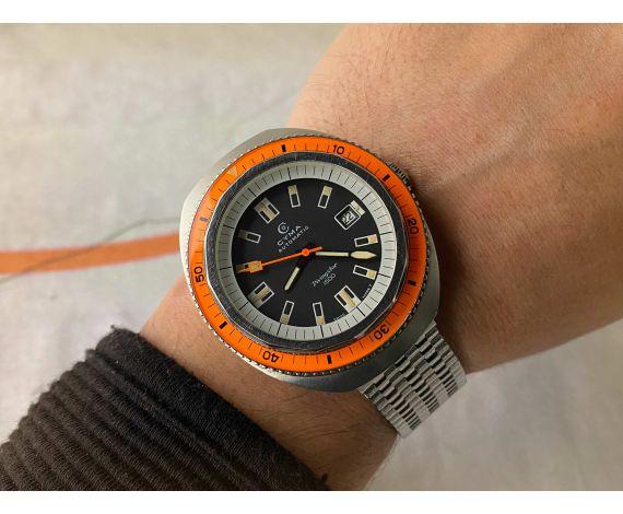 CYMA DIVINGSTAR 1500 Reloj DIVER Vintage suizo automático Cal. R.804.00 Corona roscada SUPER COMPRESSOR *** COLECCIONISTAS ***