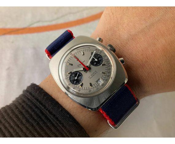 VALGINE Cal. Valjoux 7734 Reloj suizo cronógrafo antiguo de cuerda Ref. 4050/1 *** DIAL PANDA ***