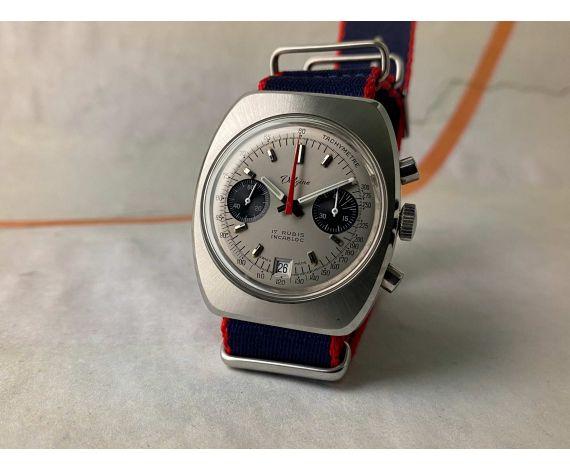 VALGINE Cal. Valjoux 7734 Vintage swiss hand winding chronograph watch Ref. 4050/1 *** PANDA DIAL ***