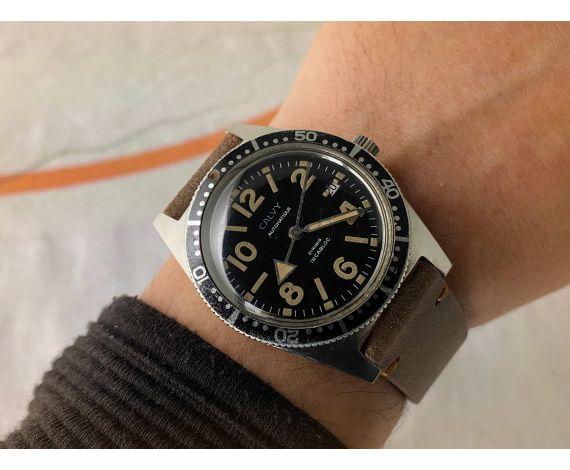 CALVY Reloj antiguo automático Cal. ETA 2472 DIVER 21 Jewels Bisel bidireccional BROAD ARROW *** 20 ATM ***