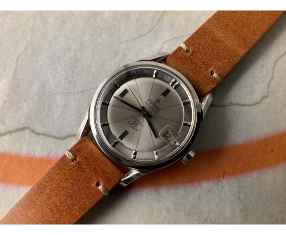POTENS Reloj suizo antiguo automático 25 jewels ESTILO POLEROUTER Cal. ETA 2452 *** ESPECTACULAR ***