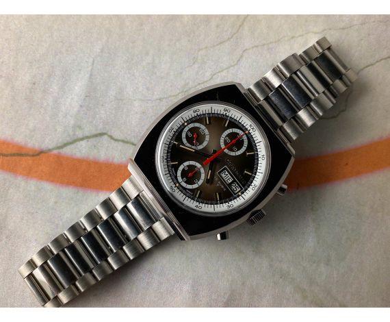 NOS CAUNY PRIMA CAUNYMATIC Reloj cronógrafo antiguo suizo automático Cal. Valjoux 7750 *** MINT ***