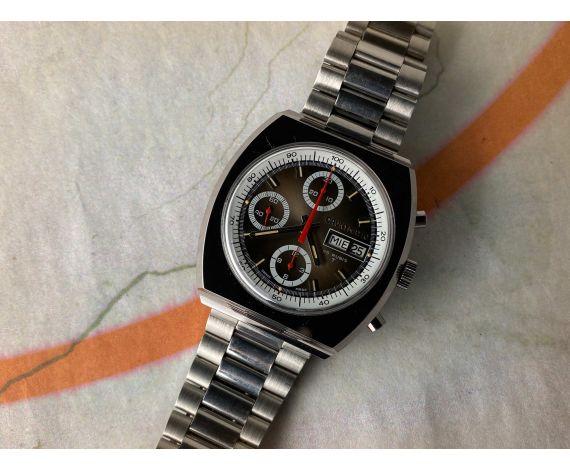 NOS CAUNY PRIMA CAUNYMATIC Vintage swiss chronograph automatic winding watch Cal. Valjoux 7750 *** MINT ***