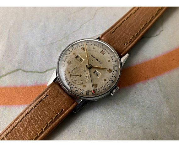 MOVADO TRIPLE DATE Ref. 14776 Reloj antiguo suizo de cuerda Cal 475 *** PRECIOSA PATINA ***