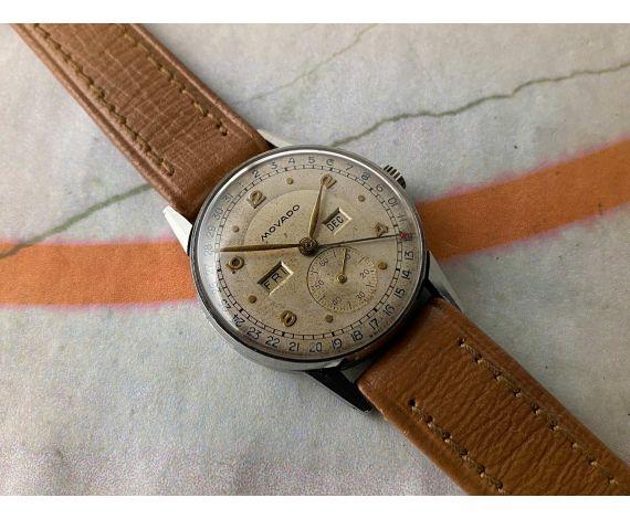 MOVADO TRIPLE DATE Ref. 14776 Vintage swiss manual winding watch Cal 475 *** BEAUTIFUL PATINA ***