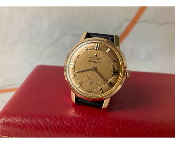ZENITH PORT ROYAL CHRONOMETRE Vintage manual winding watch 18k yellow gold Cal. 135 *** COLLECTORS ***