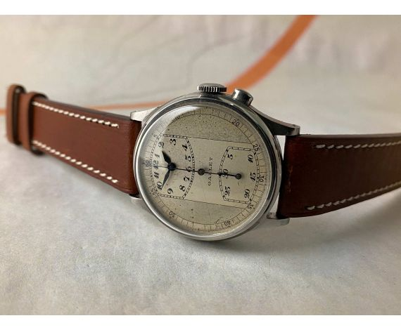 GALLET MultiChron REGULATOR Vintage swiss hand winding chronograph watch Cal. Venus 140 Monopusher *** COLLECTORS ***